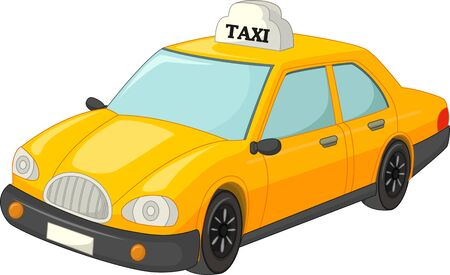 Yellow Taxi Cartoon For Your Design