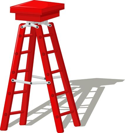 Red Ladder Cartoon for your design