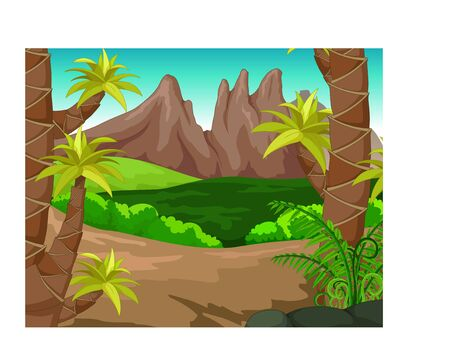 Cool Forest Landscape Cartoon for your design