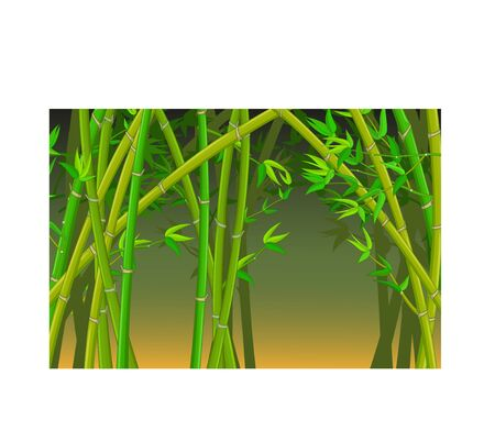 Cool Bamboo Forest Cartoon for your design