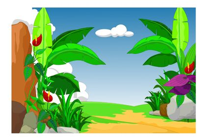 Cool Landscape View Cartoon for your design