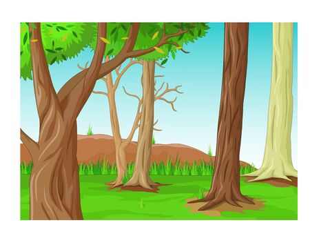 Funny Forest Landscape Cartoon for your design Zdjęcie Seryjne - 129793045