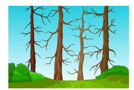 Cool Tree Landscape Cartoon for your design
