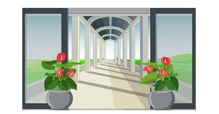Cool Terrace Cartoon for your design