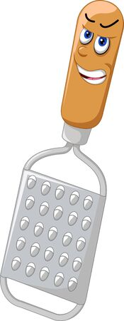 Funny Grey Stainless Steel Essential Grater Cartoon