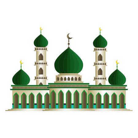 Beautiful Islamic Mosque Cartoon