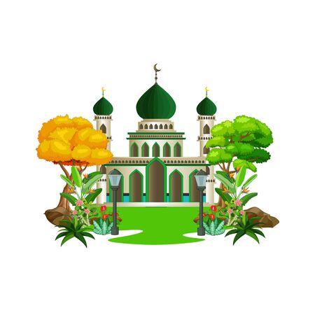 Islamic Mosque Cartoon Ilustracja