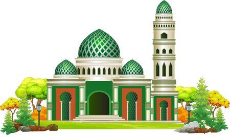 Beautiful Mosque Cartoon Vector Illustration