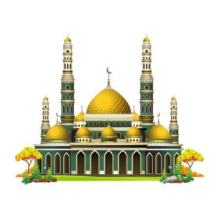 Mosque Islamic Cartoon Beautiful