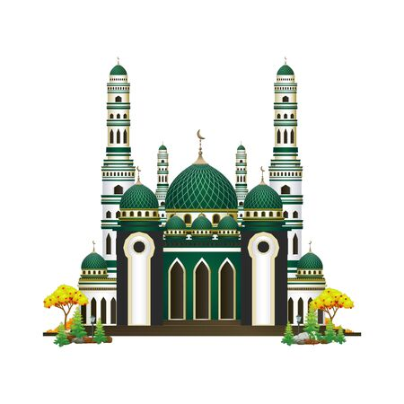 Mosque Vector With Trees