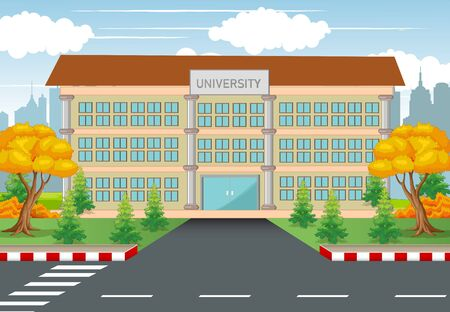 University College Building With Road and Town background