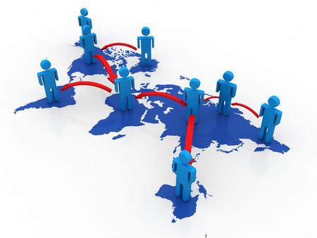 e recruitment: Global business network concept