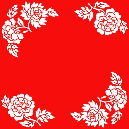 Chinese paper cut of flowers on red background stock photo picture chinese paper cut of flowers on red background stock photo 2257132 mightylinksfo