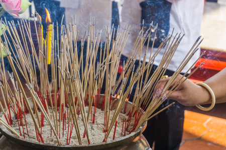 incense sticks: Burning Incense sticks Stock Photo