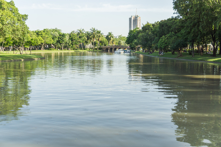 CHATUCHAK PARK, large public park in Bangkok Thailand for relaxing and doing activities.