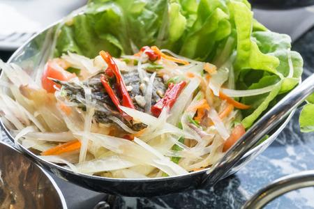 Papaya salad, Som Tum, Thai food.