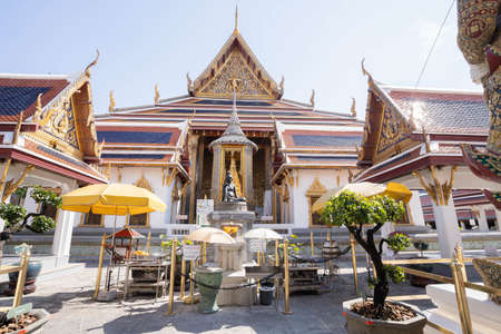 Wat Phra Kaew landmark in Bangkok Thailand.