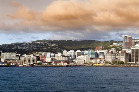 wellington: Wellington waterfront, north island of New Zealand Editorial