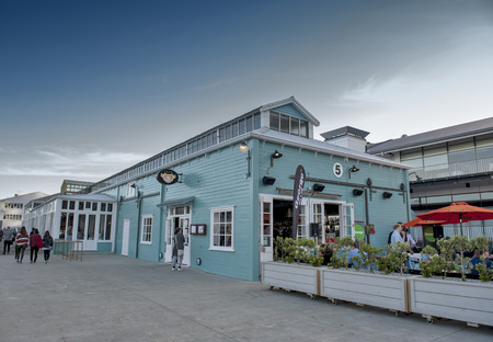 newzealand: Wellington, New Zealand - March 3, 2016: Restaurant on Wellington waterfront, north island of New Zealand