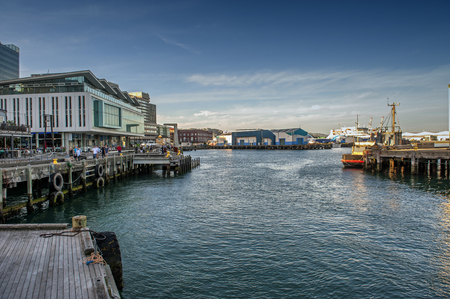 newzealand: Wellington, New Zealand - March 3, 2016: Wellington waterfront, north island of New Zealand
