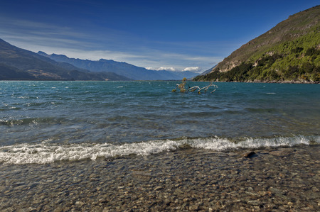 Lake Wanaka, located in the Otago region of New Zealand Stock Photo