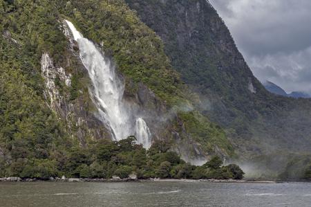 milford: Lady Bowen Falls, Milford Sound, New Zealand
