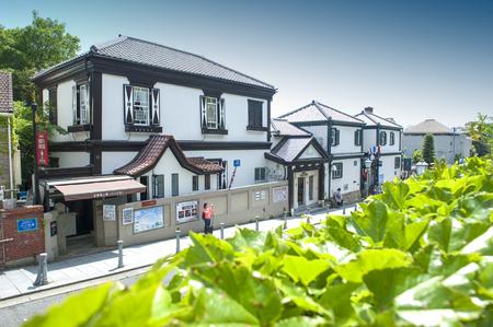 bens: Kobe, Japan - April 2016: Ben�s House, built in 1902, the oldest western-style building in Kitano district, Kobe, Japan