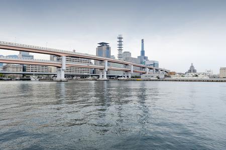 Kobe japan city in the region of kansai in hyogo prefecture kobe japan april 2016 elevated expressway at meriken park kobe port publicscrutiny Images