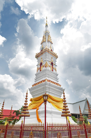 Phra That Anon, an old Thai chedi (stupa or pagoda) containing relic of Ananda (a favoured disciple of the Buddha) located at Wat Mahathat Temple in downtown Yasothon, northeastern (Isan) province of Thailand