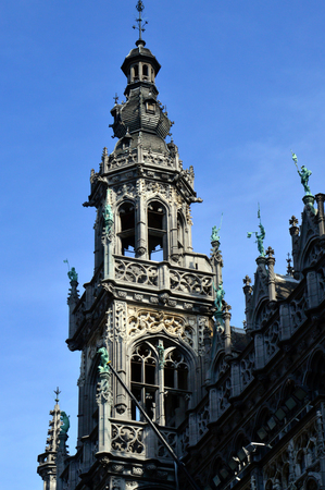 Maison du Roi, a neo-Gothic style building housing Brussels City Museum located in historic city centre on the Grand Place, Brussels, Belgium