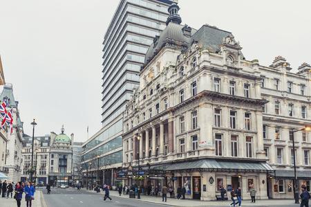Londra, Regno Unito - aprile 2018: Esterno dell'Her Majesty's Theatre, un teatro del West End situato su Haymarket nella City of Westminster e sede della produzione di Phantom of the Opera, il secondo musical del West End più longevo nella storia Editoriali