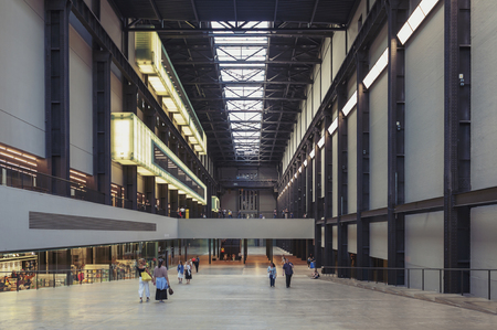 London, UK - April 2018: The Turbine Hall of the Tate Modern, museum of modern and contemporary art located at the Bankside area of the London Borough of Southwark, UK Editorial