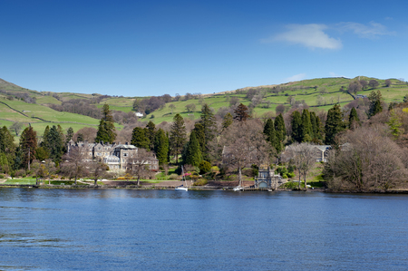 Beautiful lakeside village situated on the bank of Lake Windermere in the scenic Lake District National Park, South Lakeland, North West England, UK