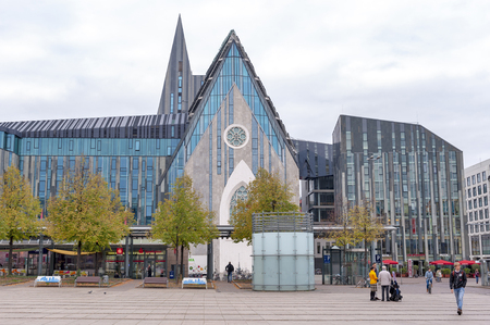Leipzig, Germany - October 2018: Paulinum, Evangelical Church and Augusteum, main building of Leipzig University at Augustusplatz in downtown Leipzig City Editorial