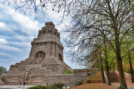 Leipzig, Germany - October 2018: The Monument to the Battle of the Nations, memorial of the defeat of Napoleon in the War of the Sixth Coalition at Leipzig City in Germany Editorial