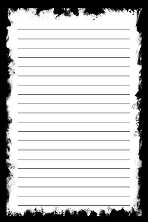 blank note: White texture notebook paper on black background. use for background