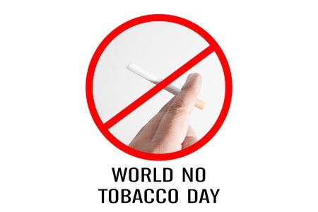 禁止吸烟设计的迹象,世界没有烟草日。