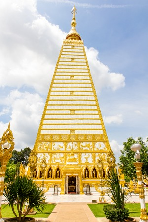 realtime: Phrathat Nong Bua temple in Ubon Ratchathani, Thailand. Stock Photo