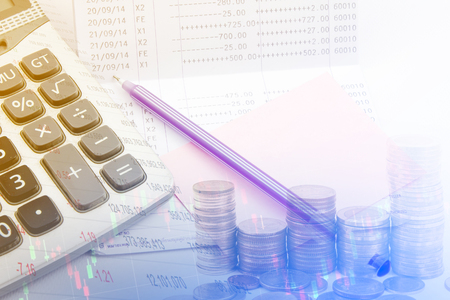 bank statement: Saving account passbook, Book bank statement. Finance concept