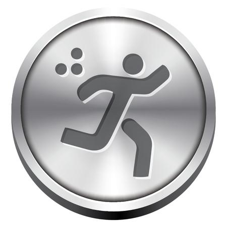 billiard ball: sports icons Illustration