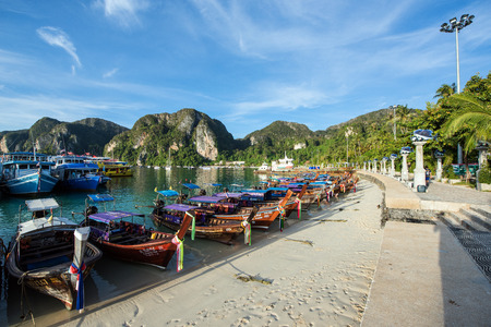 9th february 2017 At PHI PHI island longtailboat stop at beach PHI PHI island 2017 february 9th