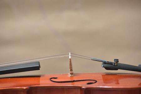 O violino sobre a mesa, Fim de violino no chão de madeira, Vista superior do violino musical no chão de madeira escura Foto de archivo - 92847008