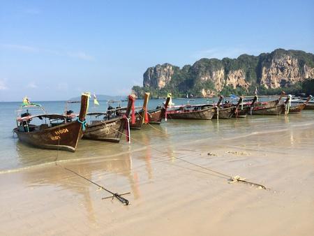 long tailed boat: Railay beach, Thailand