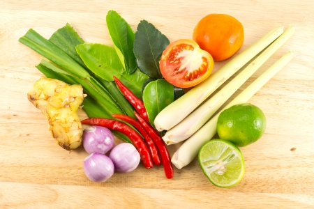 Thailand food Tom Yum Kung Soup flavoring Stock Photo