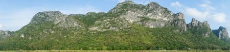 Panorama  High mountains. National park Sam-Roi-Yot. Prachuap Khiri Khan Province. Stock Photo