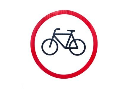 Bicycle symbol on white background photo