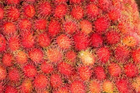Rambutan tropical fruit in Thailand Stock Photo