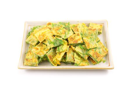 Fried acacia Pennata with egg (cha-om in Thailand) photo
