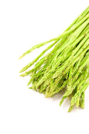Fresh green asparagus isolated on white background Stock Photo