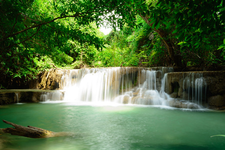 Huay Mae Kamin Waterfall in Khuean Srinagarindra National Park photo